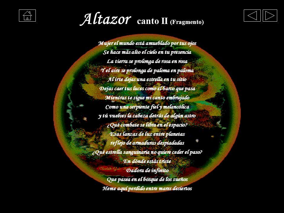 Altazor canto II (Fragmento)
