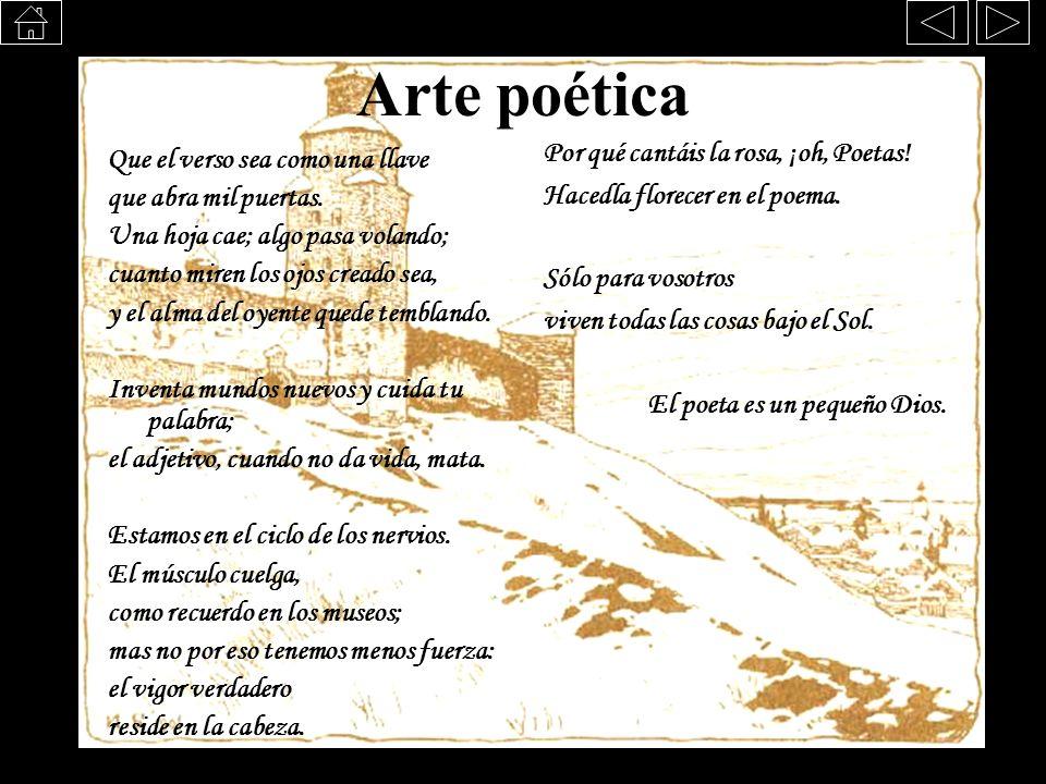 Arte poética Por qué cantáis la rosa, ¡oh, Poetas!