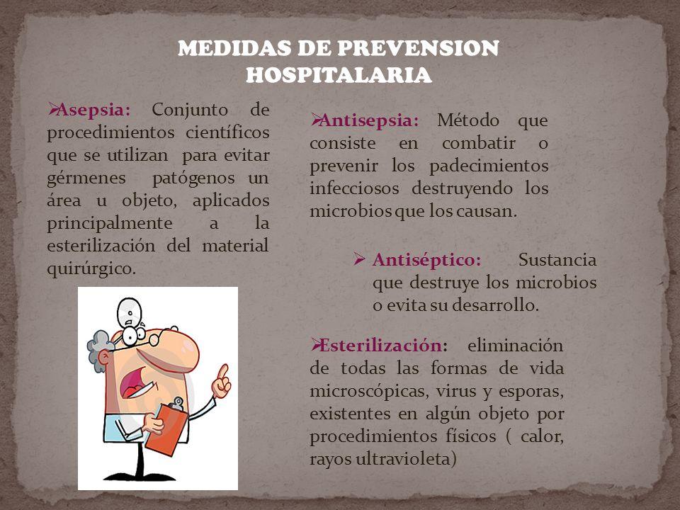 MEDIDAS DE PREVENSION HOSPITALARIA
