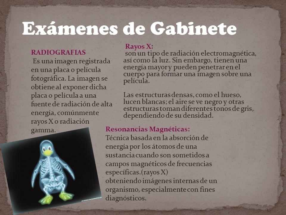 Exámenes de Gabinete Rayos X: