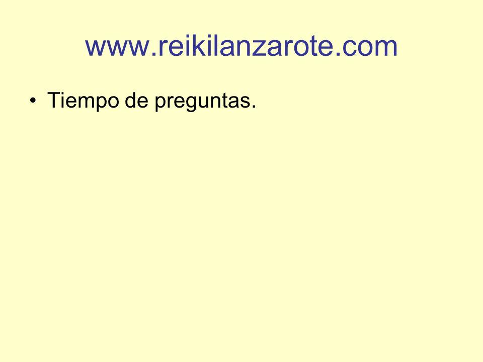 www.reikilanzarote.com Tiempo de preguntas.