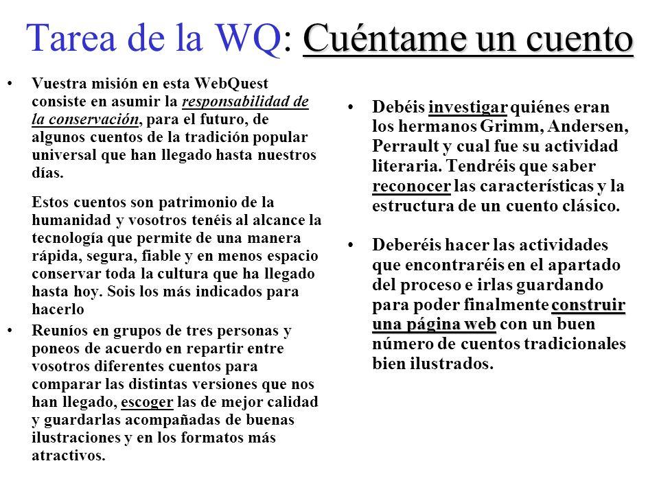 Tarea de la WQ: Cuéntame un cuento
