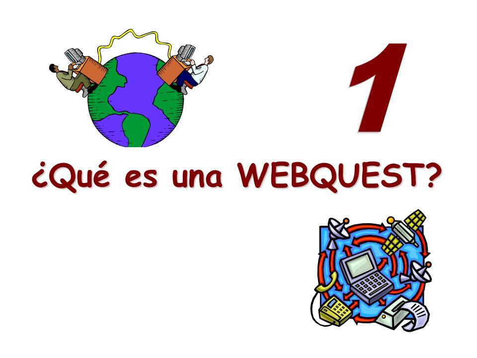 1 ¿Qué es una WEBQUEST