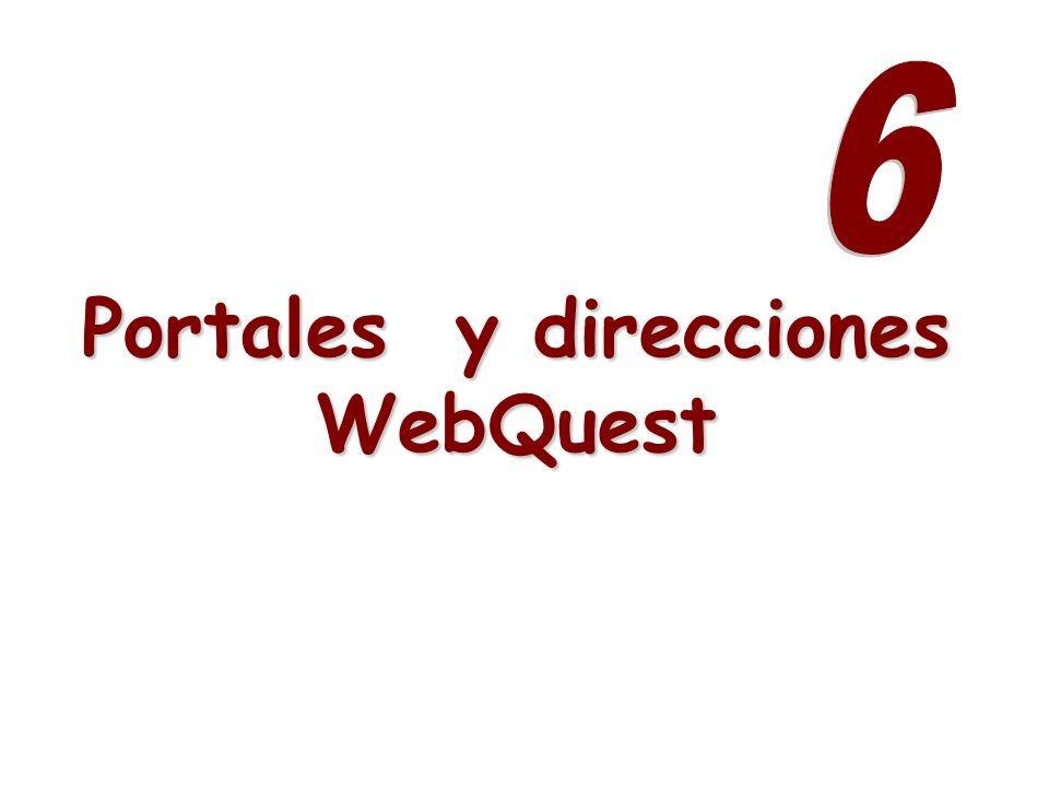 Portales y direcciones WebQuest