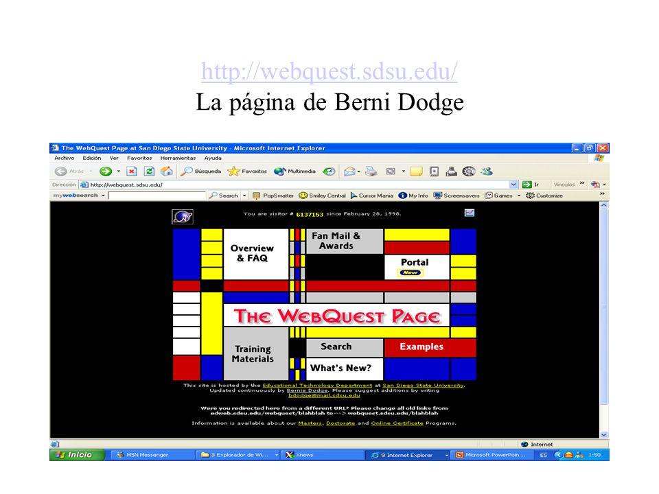 http://webquest.sdsu.edu/ La página de Berni Dodge