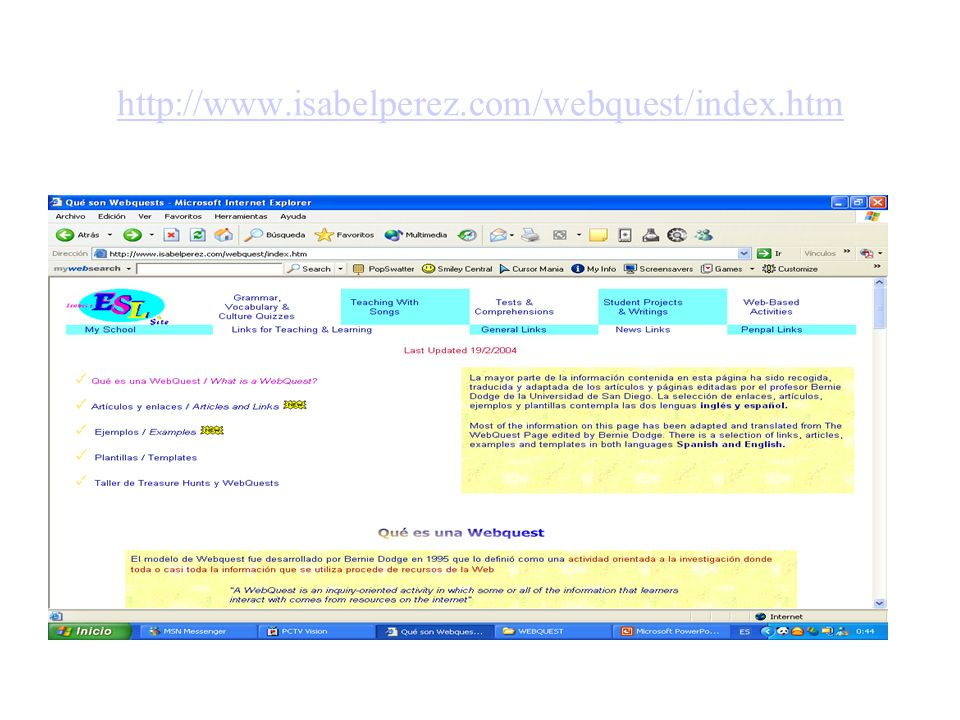 http://www.isabelperez.com/webquest/index.htm