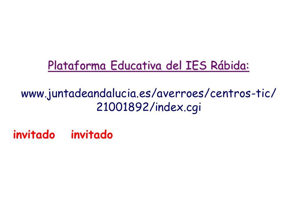 Plataforma Educativa del IES Rábida: