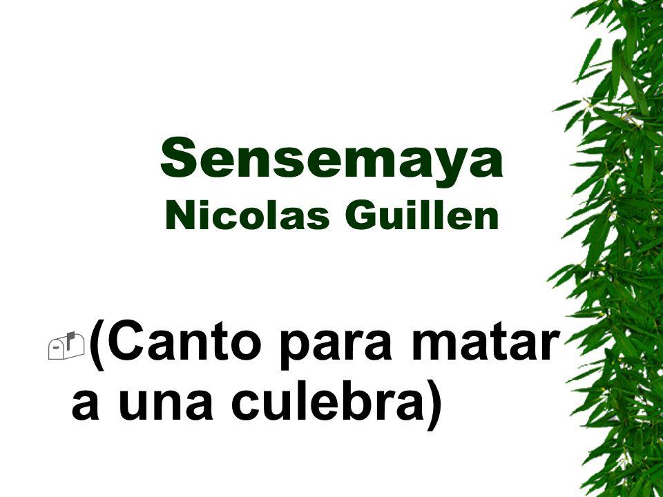 Sensemaya Nicolas Guillen