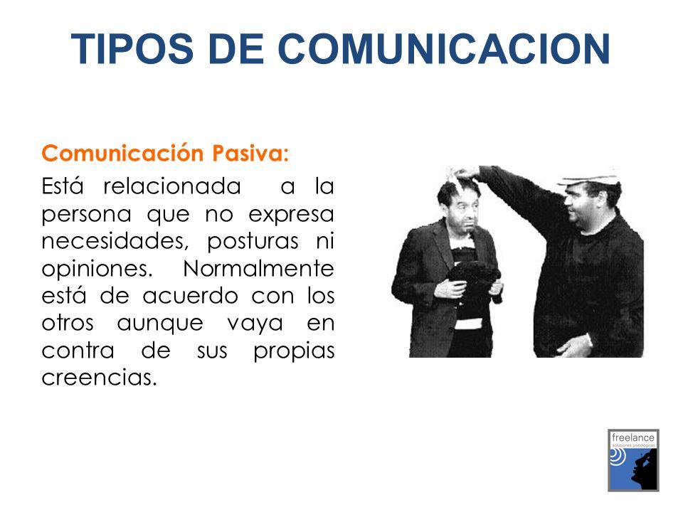 TIPOS DE COMUNICACION Comunicación Pasiva:
