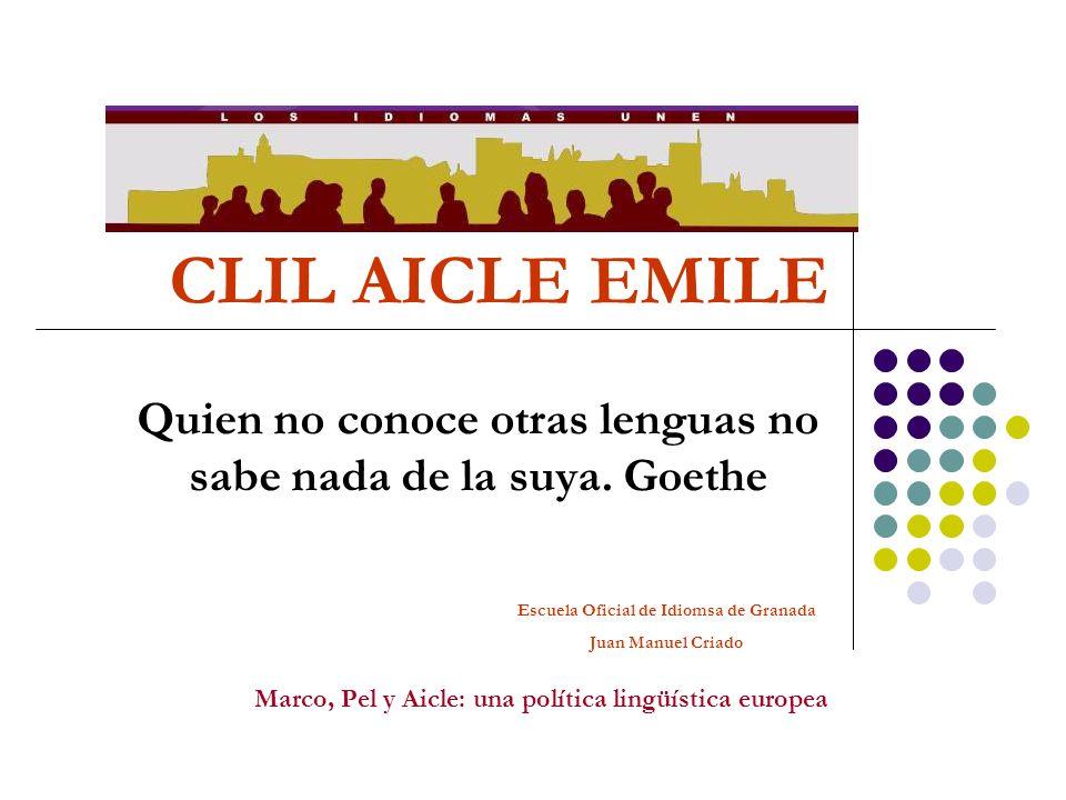 Quien no conoce otras lenguas no sabe nada de la suya. Goethe