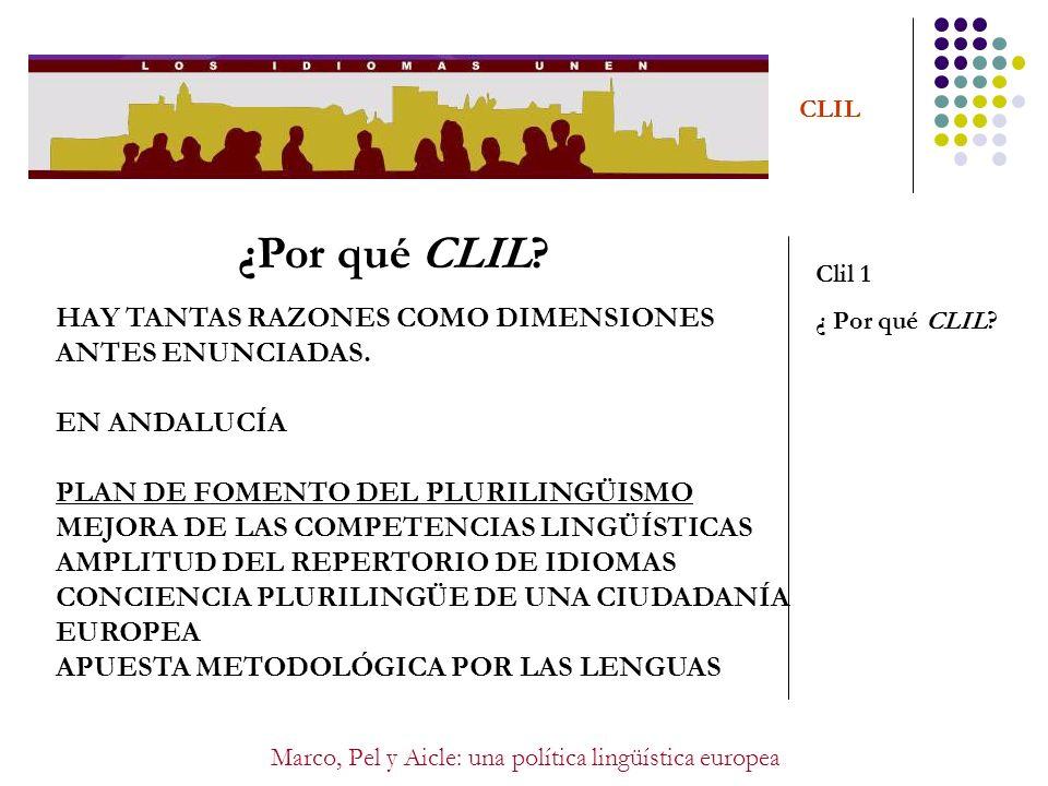 Marco, Pel y Aicle: una política lingüística europea