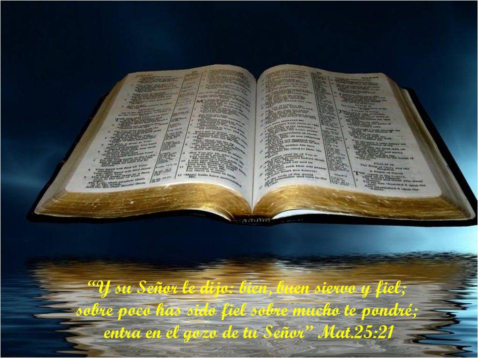 Y su Señor le dijo: bien, buen siervo y fiel;
