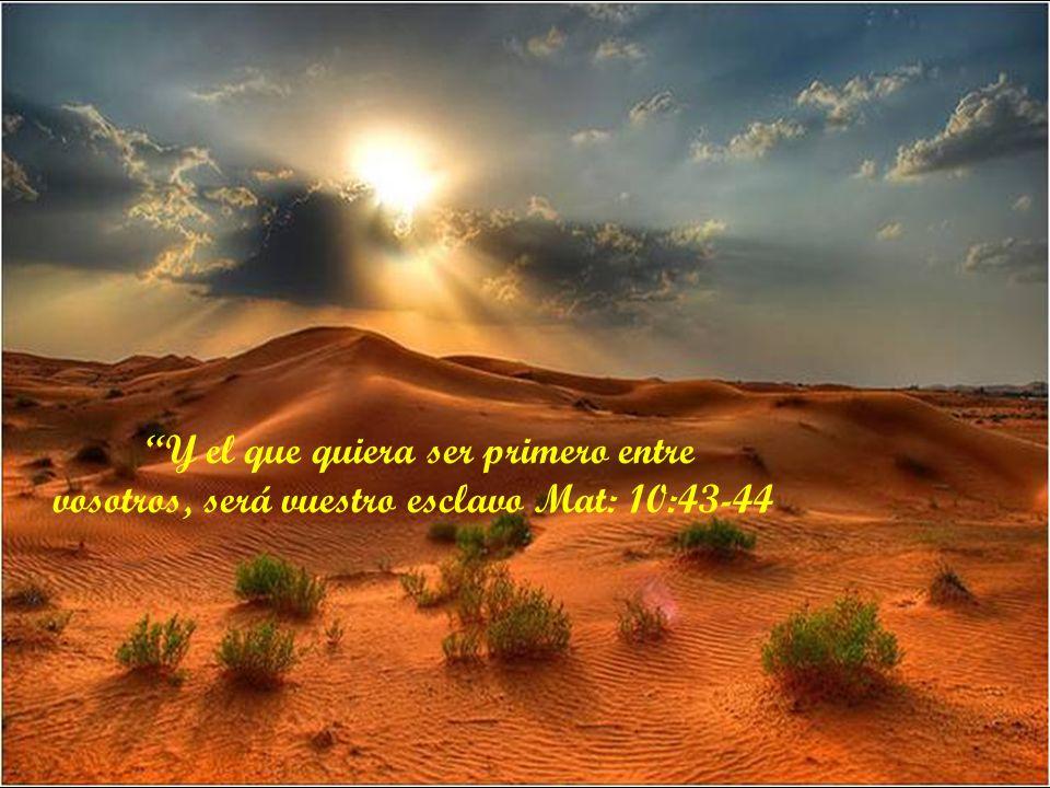 vosotros, será vuestro esclavo Mat: 10:43-44