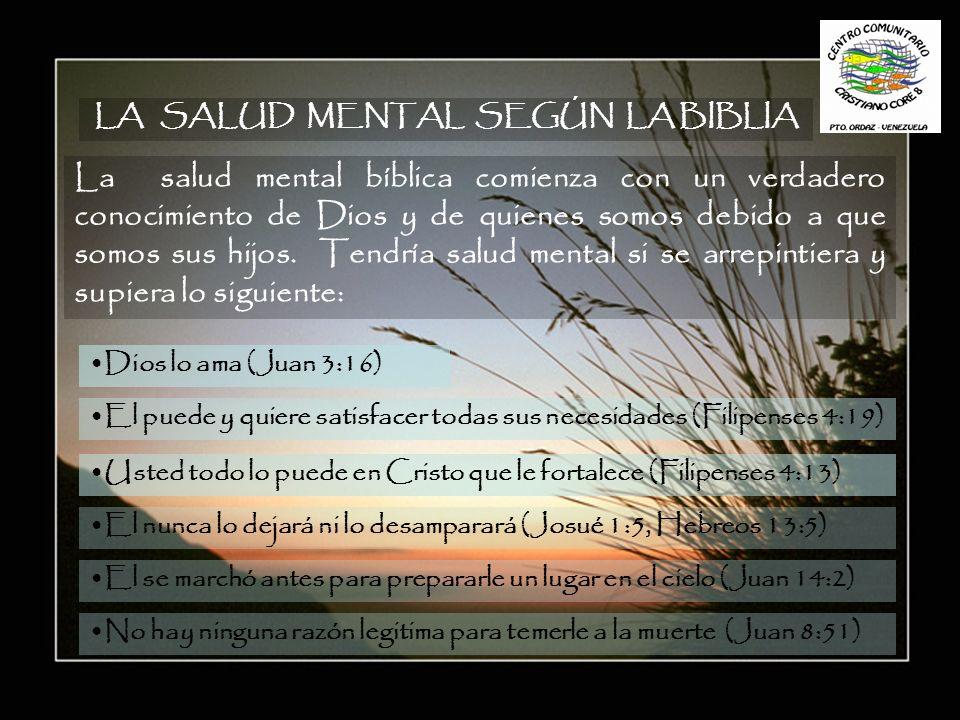 LA SALUD MENTAL SEGÚN LA BIBLIA