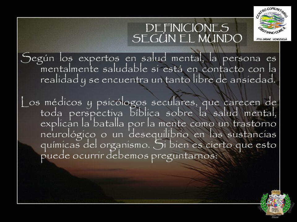 DEFINICIONES SEGÚN EL MUNDO