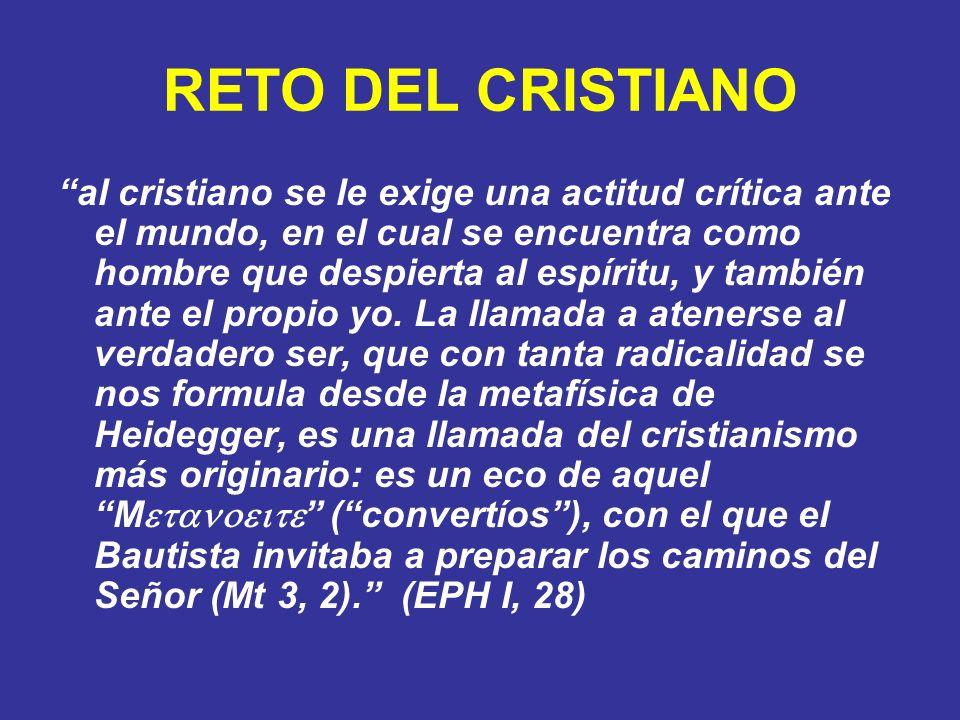 RETO DEL CRISTIANO