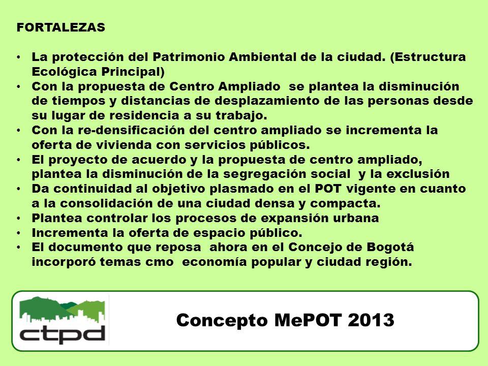 Concepto MePOT 2013 FORTALEZAS