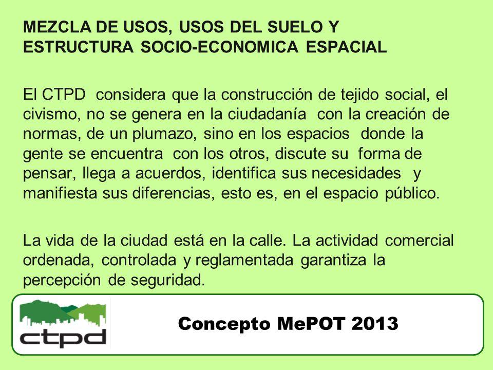 MEZCLA DE USOS, USOS DEL SUELO Y ESTRUCTURA SOCIO-ECONOMICA ESPACIAL