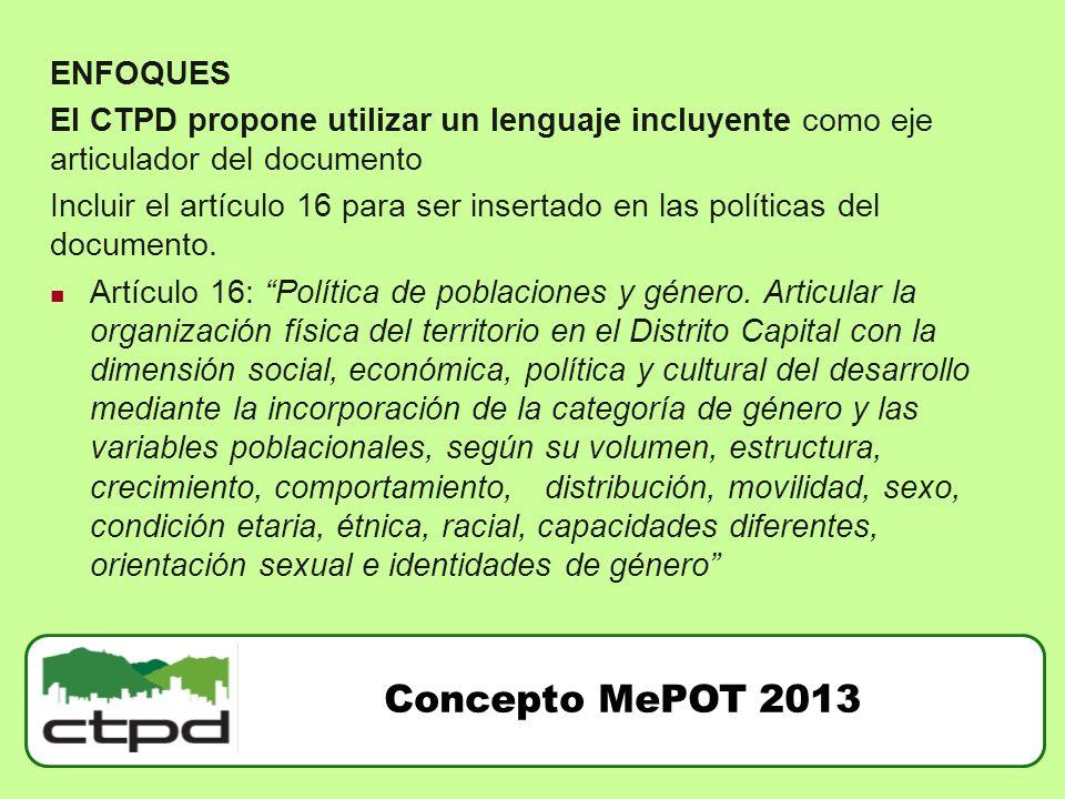 Concepto MePOT 2013 ENFOQUES