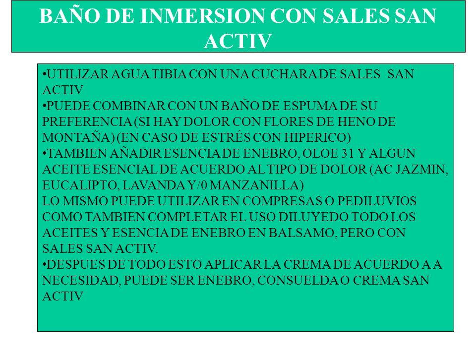 BAÑO DE INMERSION CON SALES SAN ACTIV