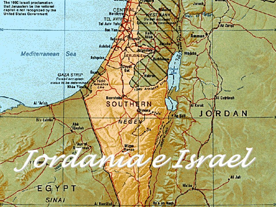 Está ubicado entre Jordania e Israel y se extiende de norte a sur sobre una gran depresión entre montañas rocosas.