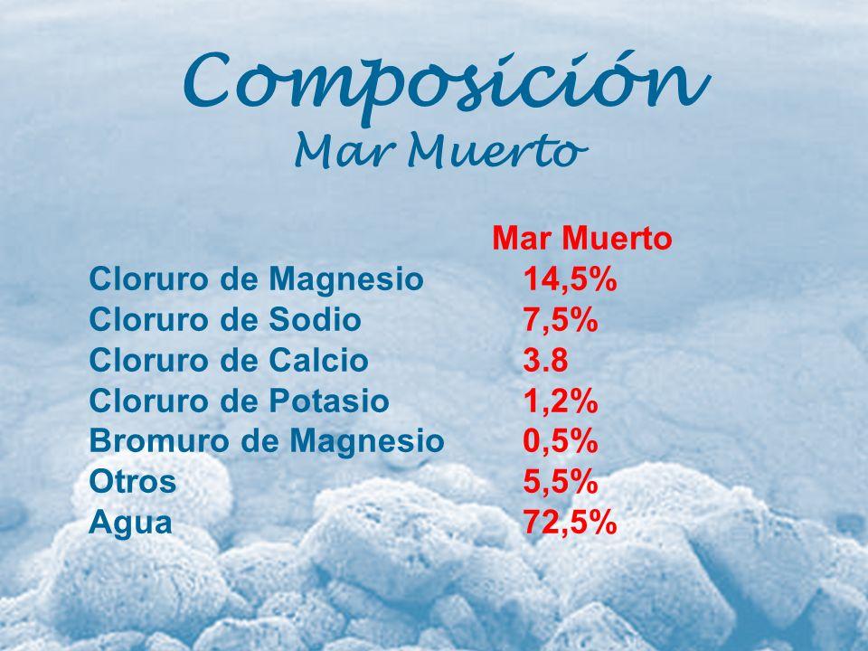 Composición Mar Muerto Mar Muerto Cloruro de Magnesio 14,5%