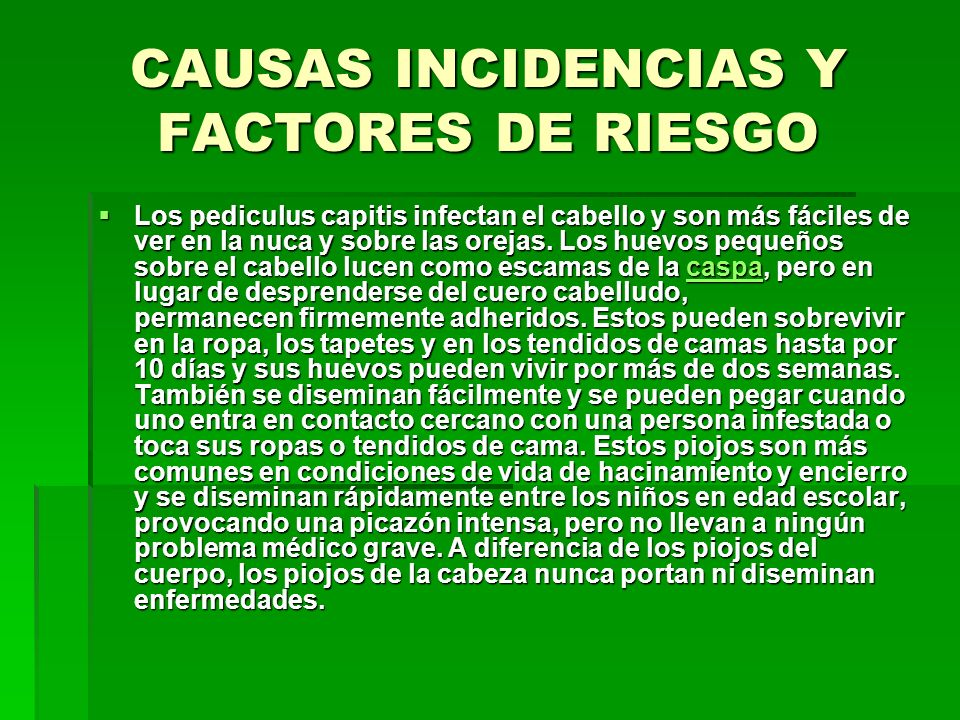 CAUSAS INCIDENCIAS Y FACTORES DE RIESGO