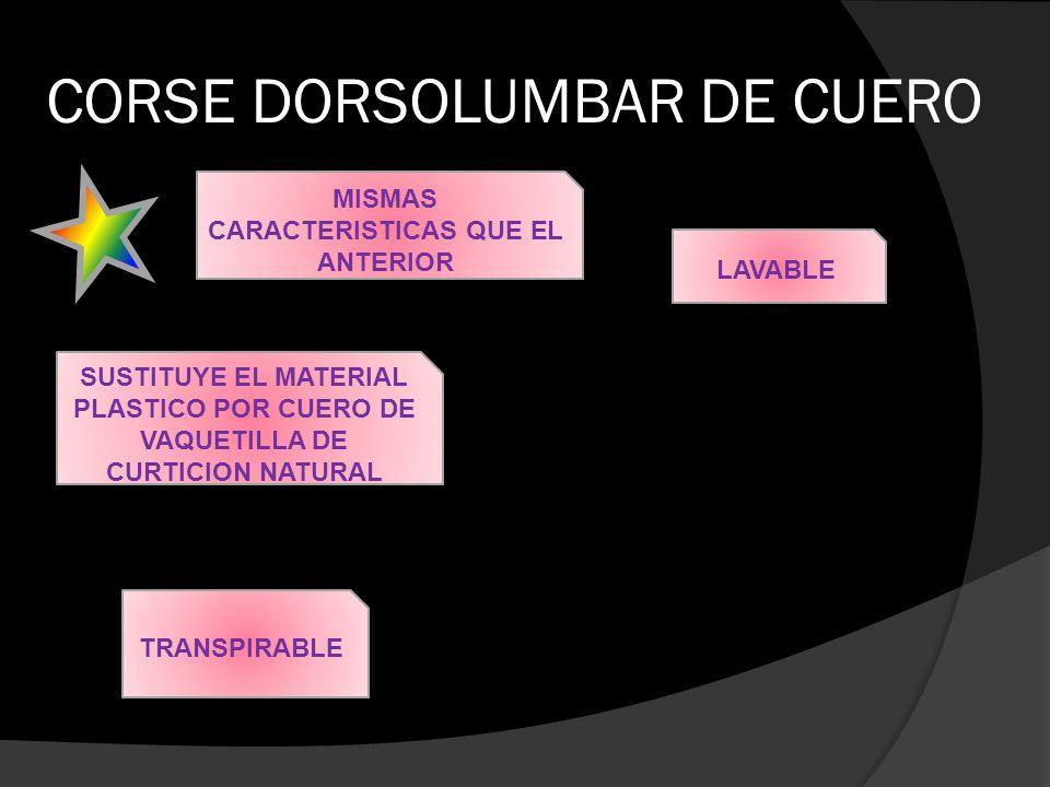 CORSE DORSOLUMBAR DE CUERO