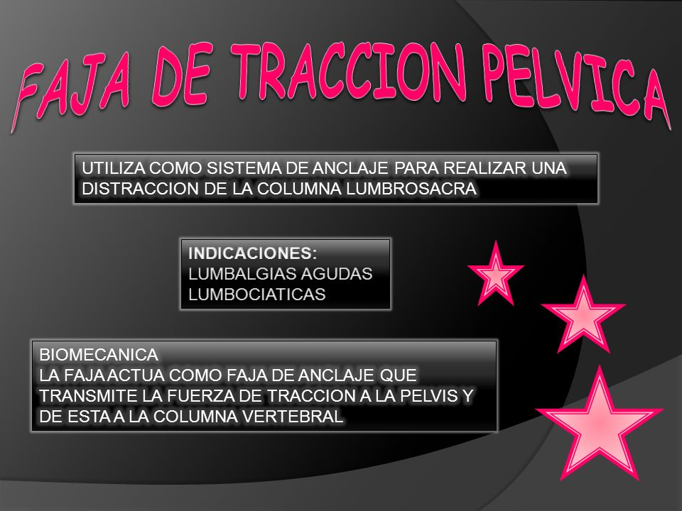 FAJA DE TRACCION PELVICA