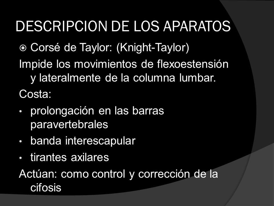 DESCRIPCION DE LOS APARATOS