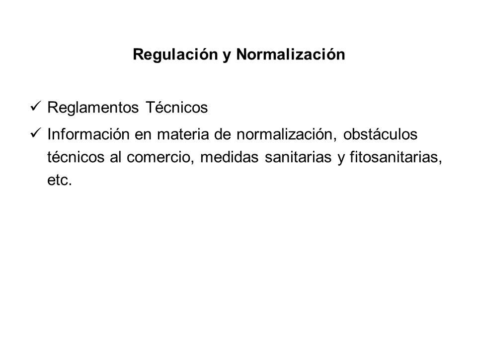 Regulación y Normalización