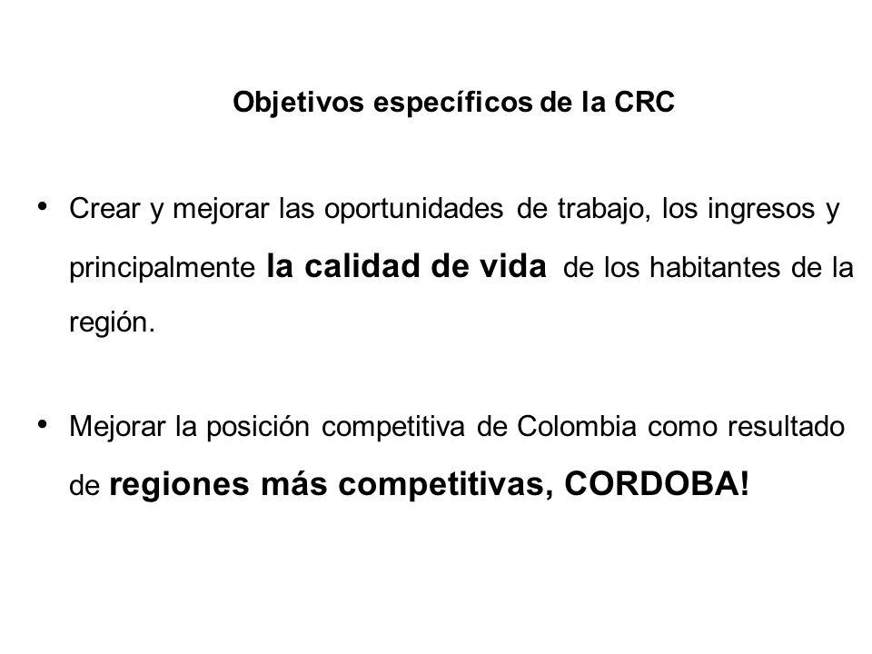 Objetivos específicos de la CRC