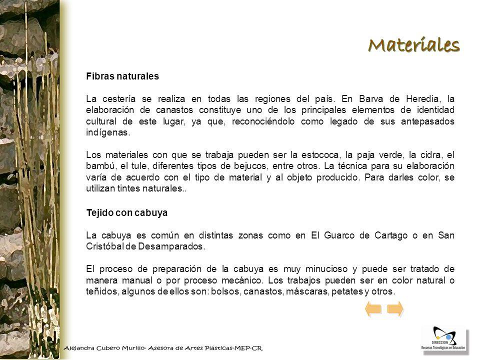 Materiales Fibras naturales