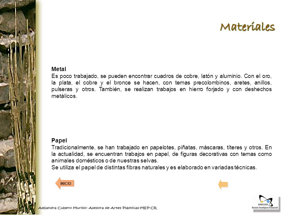 Materiales Metal.