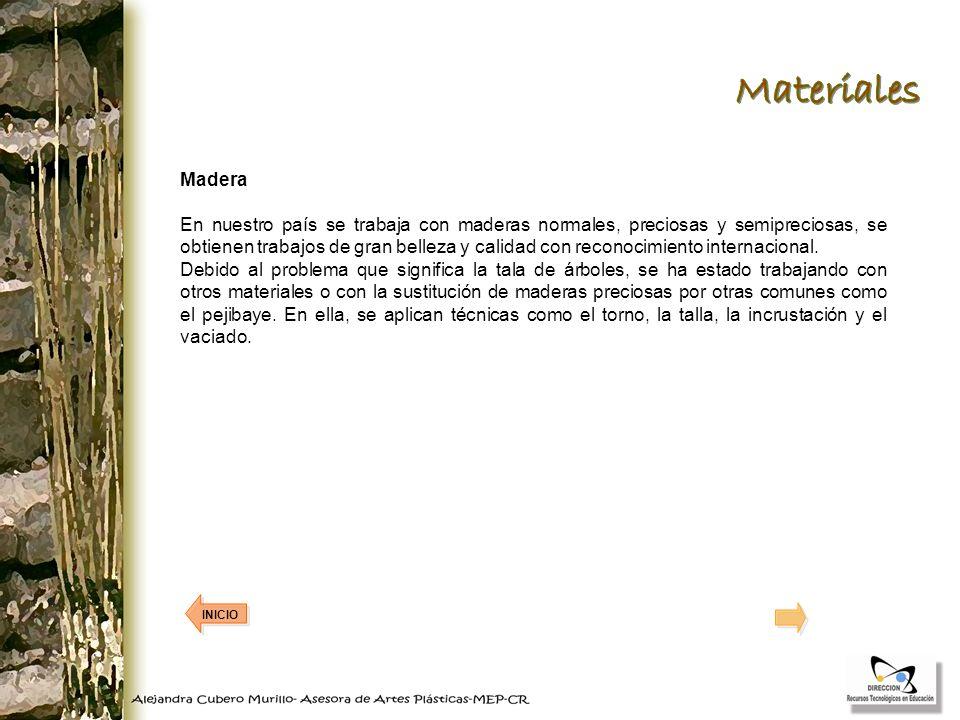 Materiales Madera.