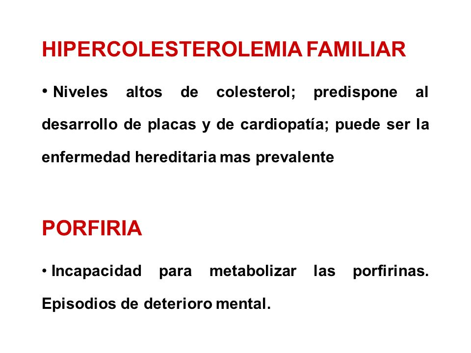HIPERCOLESTEROLEMIA FAMILIAR