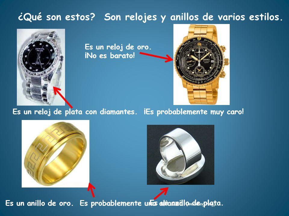 Son relojes y anillos de varios estilos.