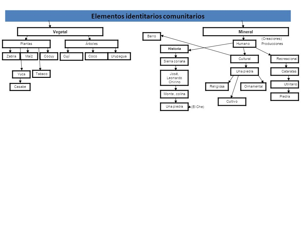 Elementos identitarios comunitarios