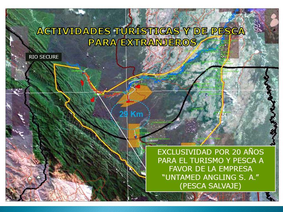 RIO SECURE EXCLUSIVIDAD POR 20 AÑOS PARA EL TURISMO Y PESCA A FAVOR DE LA EMPRESA UNTAMED ANGLING S.