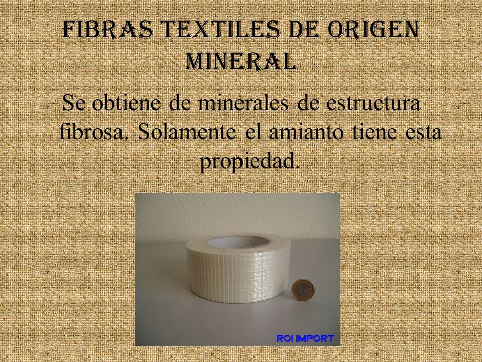 FIBRAS TEXTILES DE ORIGEN MINERAL