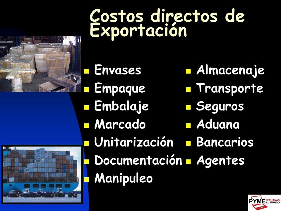 Costos directos de Exportación