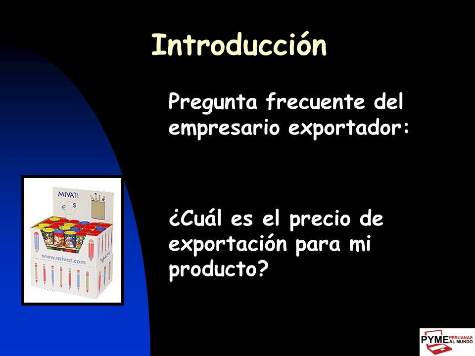 Introducción ¿Cuál es el precio de exportación para mi producto