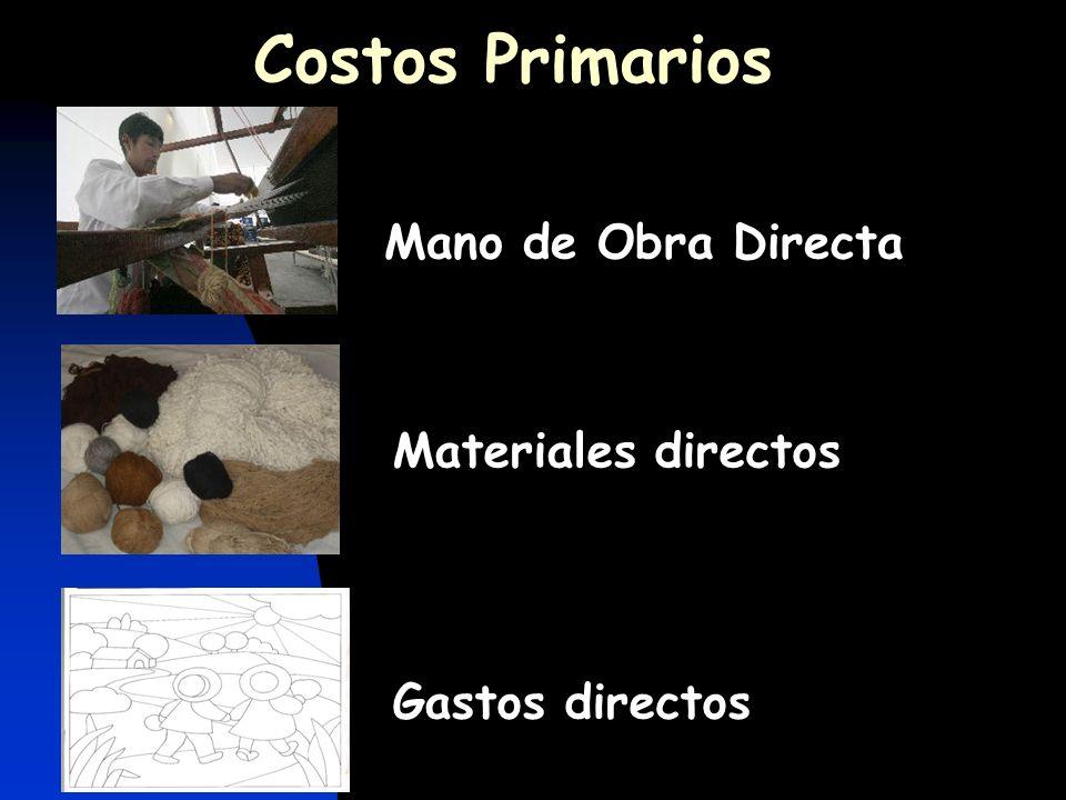 Costos Primarios Mano de Obra Directa Materiales directos