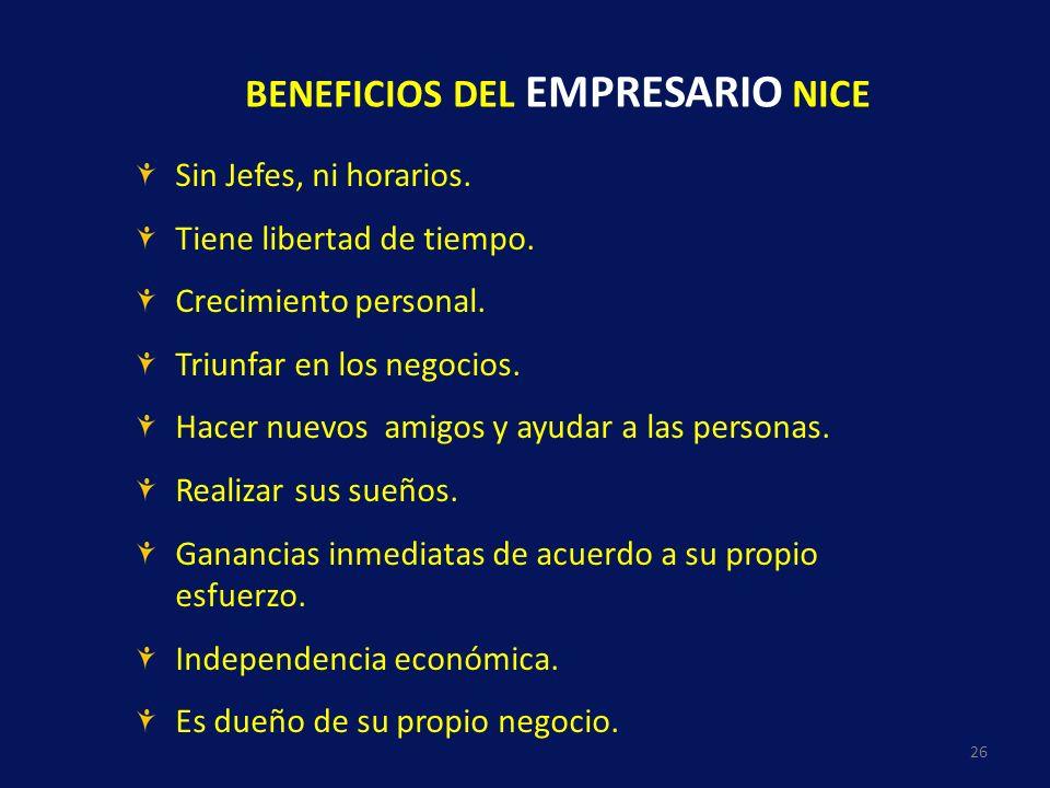 BENEFICIOS DEL EMPRESARIO NICE