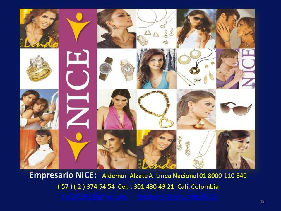 Empresario NICE: Aldemar Alzate A Línea Nacional 01 8000 110 849