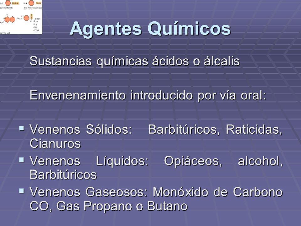 Agentes Químicos Sustancias químicas ácidos o álcalis