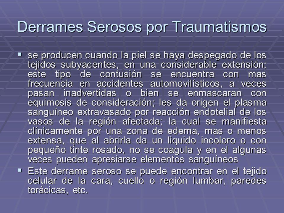 Derrames Serosos por Traumatismos