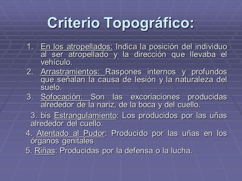 Criterio Topográfico: