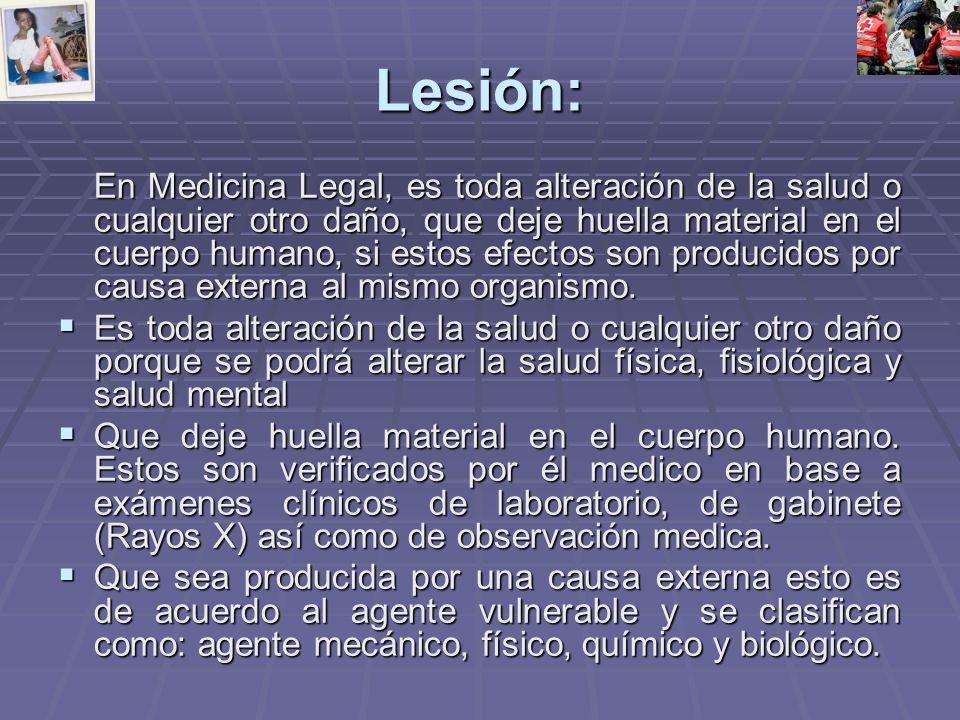 Lesión: