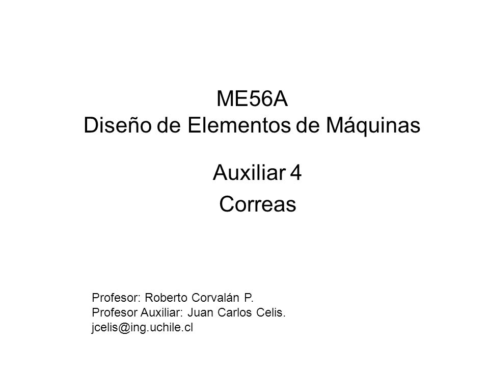 ME56A Diseño de Elementos de Máquinas